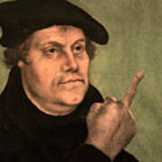 Martin Luther  Finger Poster