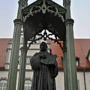 Martin Luther In Market Square Poster