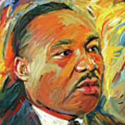 Martin Luther King Portrait 1 Poster