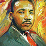 Martin Luther King Portrait 2 Poster