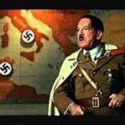 Martin Wuttke As Adolf Hitler Number One Inglourious Basterds 2009 Color Added 2016 Poster