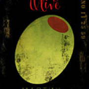 Martini Olive Poster