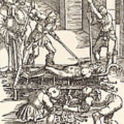 Martyrdom Of Saint Lawrence Poster