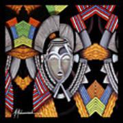 Maruvian Silver Mask Poster