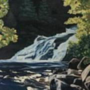 Mary Ann Falls On The Cabot Trail Poster