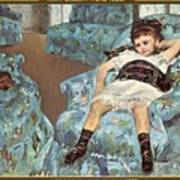 Mary Cassatt-little Girl In A Blue Armchair1878 Po Amp 059 Mary Cassatt Poster