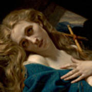 Mary Magdalene In The Cave Poster