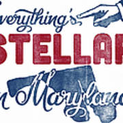 Maryland Poster - Funny Stellar Poster