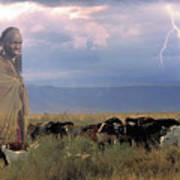 Masaii Cattle Poster