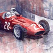 Maserati 250 F Gp Monaco 1956 Stirling Moss Poster