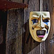 Mask On Barn Door Poster
