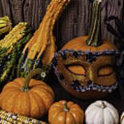 Masked Pumpkin Poster