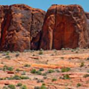 Massive Sandstone Cliffs Valley Of Fire Poster