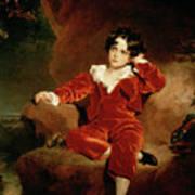 Master Charles William Lambton Poster by Sir Thomas Lawrence