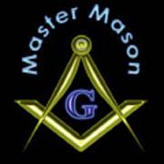Master Mason In Black Poster