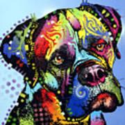 Mastiff Warrior Poster