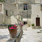 Matera With Flowers Poster