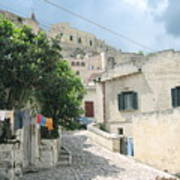 Matera's Colorful Laundry Poster