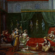 Private Chamber Of An Aristocratic Turkish Woman Poster