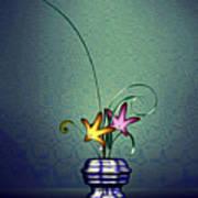 Math Flower 5 Poster