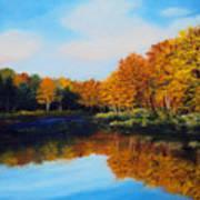 Mattawamkeag River in Autumn Poster