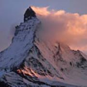 Matterhorn At Dusk Poster by Jetson Nguyen