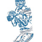 Matthew Stafford Detroit Lions Pixel Art 6 Poster