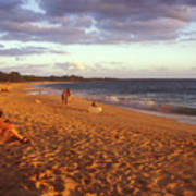 Maui Beach In Evening Poster