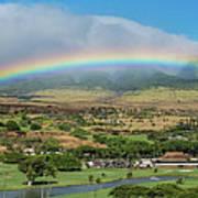 Maui Rainbow Poster