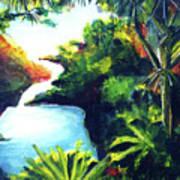 Maui Seven Sacred Falls #184 Poster