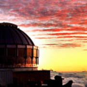 Mauna Kea Observatory Hawaii Poster