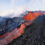 Mauna Loa Eruption Poster by Joe Carini - Printscapes