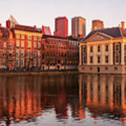 Mauritshuis And Hofvijver At Golden Hour - The Hague Poster
