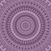 Mauve circle mandala Poster