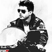 Maverick, Top Gun, Kawasaki Ninja 900, F - 14a Tom Cat, Tom Cruise Poster