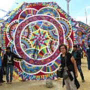 Mayan Patterns Kite Poster