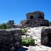 Mayan Ruins In Tulum Poster