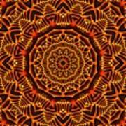 Mayan Sun God Poster