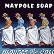 Maypole Soap Retro Vintage Ad 1890's Poster
