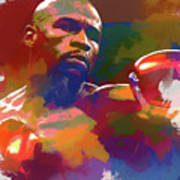 Mayweather Watercolor Poster