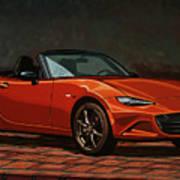 Mazda Mx-5 Miata 2015 Painting Poster