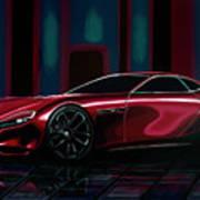 Mazda Rx Vision 2015 Painting Poster