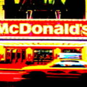 Mc Donalds On Broadway  Poster
