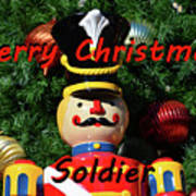Custom Soldier Christmas Card Poster