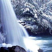 Mccoy Falls In January Poster by Thomas R Fletcher