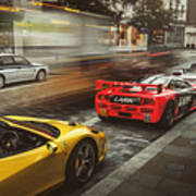 Mclaren F1 Gtr With Speciale And Integrale And 918 Poster