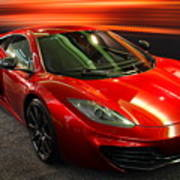 Mclaren Mph-12c Sportscar Poster by Wingsdomain Art and Photography