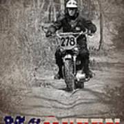 Mcqueen Isdt 1964 Poster by Mark Rogan