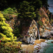 Mcway Falls Painting Poster