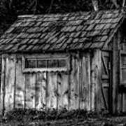 Meadow Shelter - Bw Poster